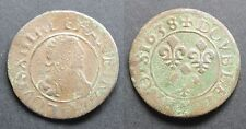 Louis XIII, DT type 16 1638 E (Tours) CGKL 470