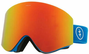 Electric Unisex EGX Snowboard Ski Goggles - Royal Blue/Red Chrome Lens