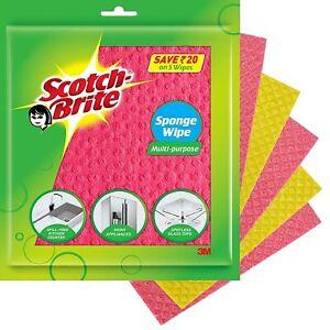 Scotch-Brite Sponge Wipe 5 Pcs pack ( Multipurpose)-Absorbs water 10 times