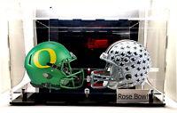 Mini Football Helmet Acrylic Display Case UV Protection NFL NCAA Mirrored Clear