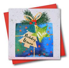 Welsh Christmas Card - Nephew, Nai, Nadolig Llawen - Tassel Embellished