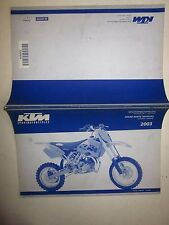 KTM 65 SX Ersatzteilkatalog fahrgestell motor Spare parts manual chassis engine