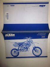 KTM 65 SX Ersatzteilkatalog fahrgestell motor Spare parts manual chassis engine