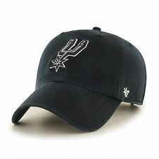 San Antonio Spurs '47 Brand Black Clean Up Adjustable Hat