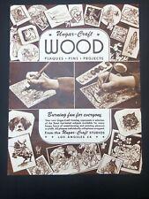 Vintage Ungar Craft Wood Burn Pyrography Burning Fun 4 Everyone Manual Pamphlet
