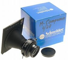 SCHNEIDER M COMPONON 4/28 LINHOF HAND PICKED LENS 1:4 f=28mm COMPUR 0 TECHNIKA