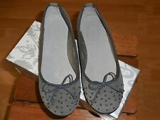 Chaussures ballerines cloutées gris 37 neuves