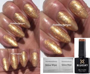 BLUESKY GOLD CHAMPAGNE FINE GLITTER SJ18 CRYSTAL NAIL GEL POLISH UVLED SOAK OFF