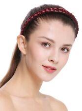 Haarband Haarreif geflochten Tracht traditionell granatrot braid CXT-003-120