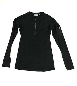 Athleta Women's Long Sleeve Black 1/2 Zip Pullover Workout Active Top Shirt XXS