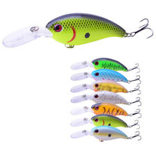 7PCS Fishing Lures Diving Crankbait Minnow Bass Treble Hooks Baits Pesca Jerkbai