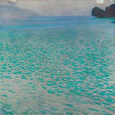 Gustav Klimt Attersee Symbolist Abstract Water Beach Ocean Print Poster 18x18