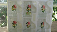 Vintage 50s 60s Floral Glass Cowboy Boot Shot Glasses Italy Stagette Bridal New