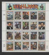 USA #2975 CIVIL WAR full sheet MNH lincoln tubman douglass sherman gettysburg