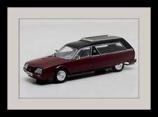 wonderful modelcar CITROEN CX HEULIEZ HEARSE 1985 - darkred/black - 1/43