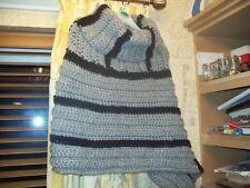HANDMADE Crochet Damas Poncho Grueso Talla M/L-Nuevo a eBay único