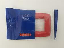 GW32343 GEWISS PLACCA PLAYBUS YOUNG 3 Posti 3 Moduli ROSSO GERANIO