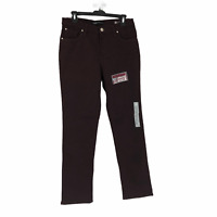 Lee Platinum Womens Purple Mid Rise Classic Fit Straight Leg Jeans Size 8