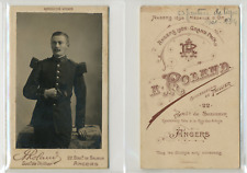 CDV Roland, Angers, Militaire, Infanterie de ligne, circa 1890 Vintage CDV album
