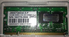 Transcend 512MB DDR2 SO-DIMM Laptop Ram PC2-4200 533Mhz JM467Q643A-5-P 200 pins
