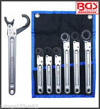BGS - Brake, Pipe, Servo, Oil Line - Ratchet Spanners, 10 - 22 mm - 8665