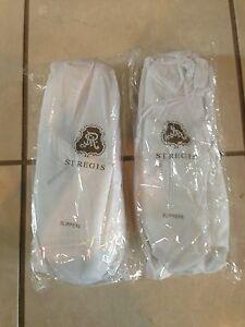 St. Regis Travel Slippers Cushioned Travel Bag NEW Marriott Spa Shoes Wedding