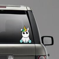 New Lovely Unicorn Car Sticker Cartoon Window Decal Vinyl Waterproof Reflective