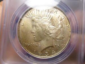 1934-D Silver Peace Dollar $1 ANACS MS-62