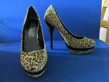 WORN ONCE SIZE 5 LEOPARD PRINT SHOES