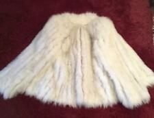 BEAUTIFUL SAGA FOX FUR WOMEN JACKET SZ S COAT GOOD CONDITION, SILVER ARCTIC