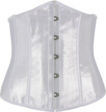 Contoured Satin Style Underbust Corset In Sizes 6 to 24 Waist Reduction Cincher
