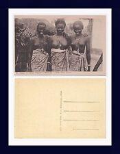 AFRIQUE OCCIDENTALE FRANÇAISE SÉNÉGAL JEUNES FILLES CÉRÈS POSTCARD CIRCA 1920