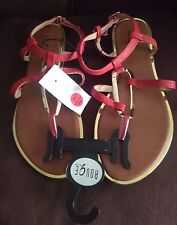 New Rouge Helium Red T-Strap Sandals U.S. Size 6 1/2