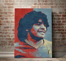 MARADONA Stampa Tela Canapa Poster Canvas Wall Art Quadro Unframed Print Paint