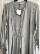 ZARA Grey Flowing Midi Dress Size XL Bloggers Fave Great with Tights & Boots