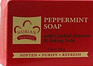 Nubian Heritage Peppermint & Aloe Bar Soaps, 5 oz. a bar / Free Shipping