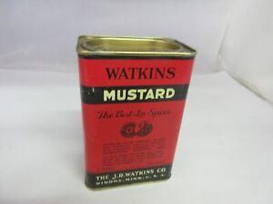 VINTAGE ADVERTISING WATKINS MUSTARD  SPICE TIN   265-K
