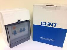 Chint Garage/Shed consumer unit IP65 rated fuse box 63A RCD 1x6A 1x16A MCB