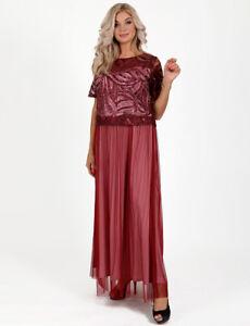 Hochwertige Kleider Abendkleid Ballkleid Partykleid Abikleid Spitze Paielletten