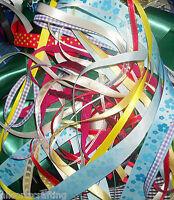 50 x 1 metre of Assorted Random Colours & Widths Mixed Ribbon Off Cuts Bundle