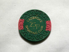 Ladbroke Sporting Club, 25p chip.