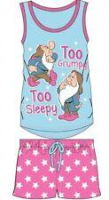 Ladies/Girls SNOW WHITE TOO GRUMPY SLEEPY DWARFS Pyjama Shorts PJ Set Xmas Gift