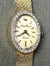 Lucien Piccard Womens 18 grams 14k Gold & Diamond Quartz 6 Jewel Wrist Watch LP