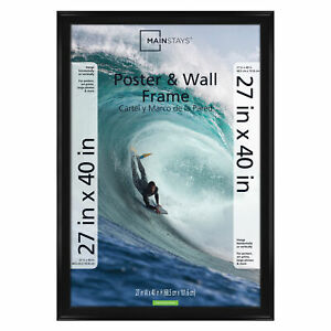 Mainstays 27x40 Poster Photo Picture Frame Large Wall Home Decor Black