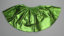 "ICE SKATING DRESS SKIRT GREEN METALLIC FIGURE SKATE XL 30-34"" Waist"