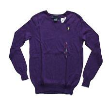 Ralph Lauren Women's Soft Cotton-Linen Boyfriend V-neck Sweater in Size M