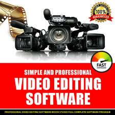 PROFESSIONAL VIDEO EDITING MOVIE STUDIO FULL COMPLETE SOFTWARE PROGRAM