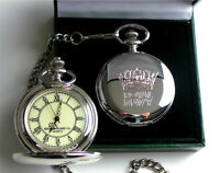 Royal Navy Crested Engraved Custom Personalised Pocket Watch & Chain Luxury Case