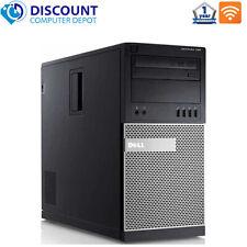 Dell Desktop Computer Tower Core i3 8GB 500GB HD DVD Wifi Windows 10 PC
