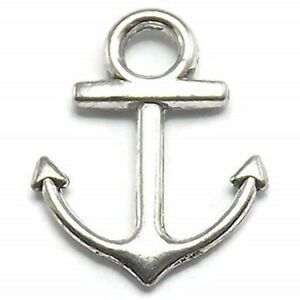 Anchor Charms Tibetan Silver Pendant Pack of 20